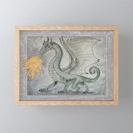 Fire Breathing Dragon Framed Mini Art Print