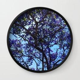 Jacaranda in Spring Wall Clock
