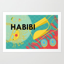 Emirati Treasures (English Habibi) Art Print