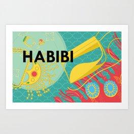 Emirati Treasures (English Habibi) Art Print