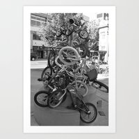 bikes Art Prints featuring Bikes by DarkMikeRys