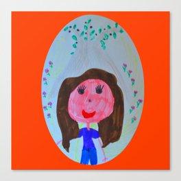 Elisavet loved the olive tree Canvas Print