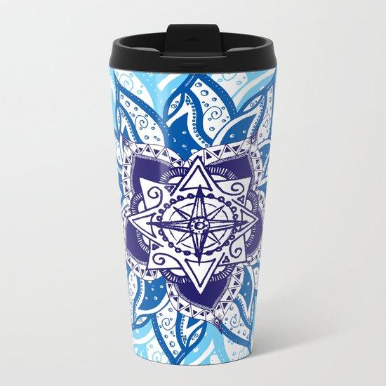 Atlantean Voyage Blue Metal Travel Mug
