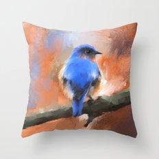 My Little Bluebird Throw Pillow