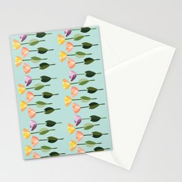 Orderly Tulips Stationery Cards