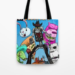 Floating BunnyHead #1 Cover Tote Bag