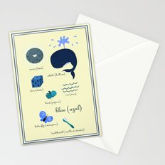 Colors: blue (Los colores: azul) Stationery Cards