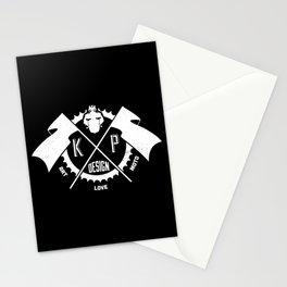 KP Design : Art - Love - Moto Crest Logo Stationery Cards
