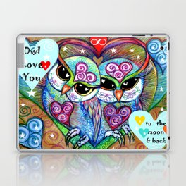 Owl Love You to the Moon & Back, original illustration by Sheridon Rayment. Laptop & iPad Skin