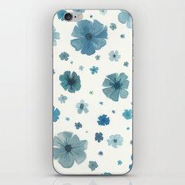 Dusky Blue Flower Garden iPhone Skin