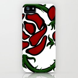 Tatto-style Wild Rose iPhone Case