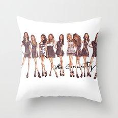 K-Pop Watercolor Throw Pillow