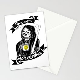 Good Mourning V2 Skulls and Coffee Stationery Cards
