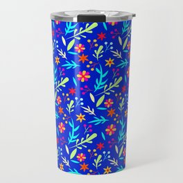 Blue Garden #illustration #pattern Travel Mug