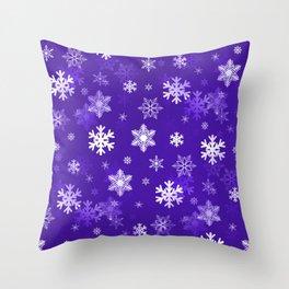 Light Purple Snowflakes Throw Pillow