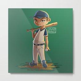 Baseball kid Metal Print
