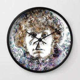 Tom Baker Text Portrait Wall Clock