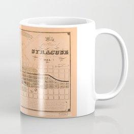 Map of the Village of Syracuse and Lodi, New York (1834) Coffee Mug