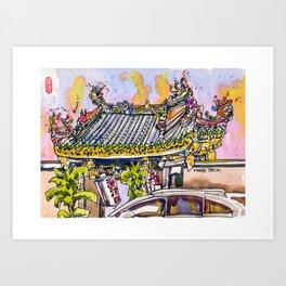 20161105e Yueh Hai Ching Temple Art Print