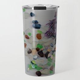Seaglass Collage Travel Mug
