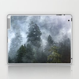 Smoky Redwood Forest Foggy Woods - Nature Photography Laptop & iPad Skin