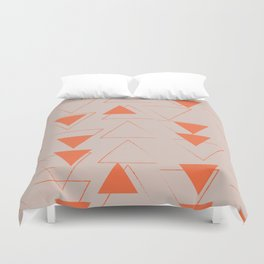 Orange Reverse Triangles Duvet Cover