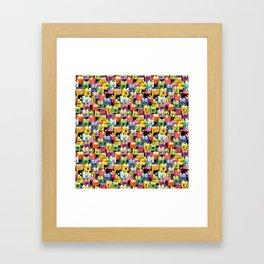 Crazy Boxes Framed Art Print