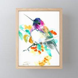 Cute Little Hummingbird Framed Mini Art Print