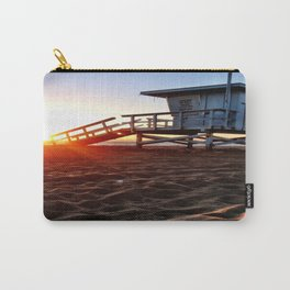"""Redondo Beach """"Life Guard Tower 3"""" Carry-All Pouch"""