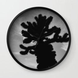 Cholla Cactus Garden XV Wall Clock