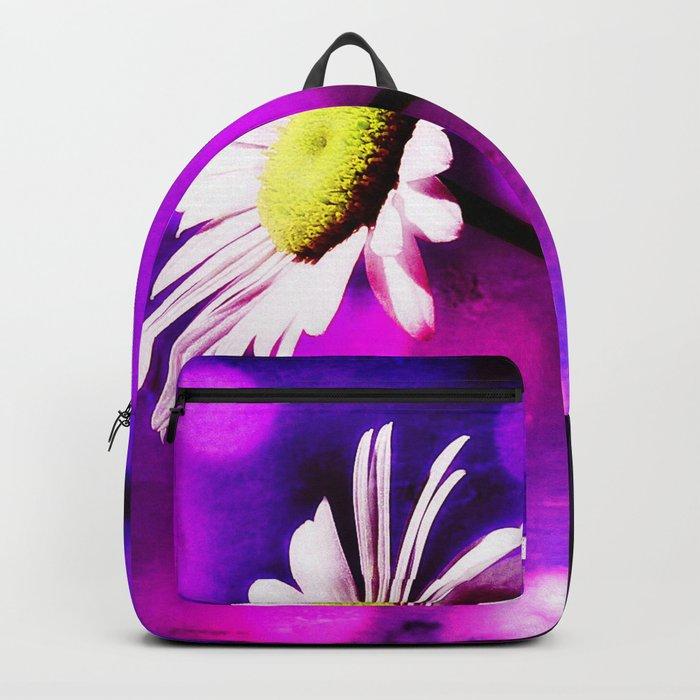 Pink N Amethyst Daisy  Backpack