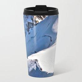 Mont Blanc, hikers, France. Travel Mug