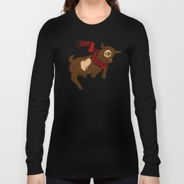 Heart Christmas Sweater Goat Long Sleeve T-shirt
