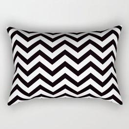 Simple Chevron Pattern - Black & White - Mix & Match with Simplicity Rectangular Pillow