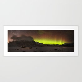 Twenty Mile River Aurora Art Print