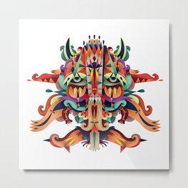 XL Mask Metal Print