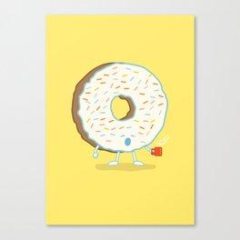 The Sleepy Donut Canvas Print