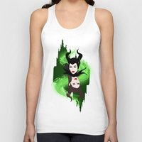 maleficent Tank Tops featuring Maleficent by Pendientera