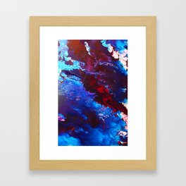 Maroon Flow Framed Art Print