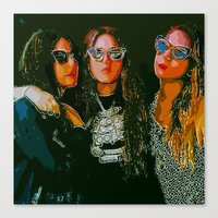 haim Canvas Prints featuring Haim Print by Bolin Cradley Art