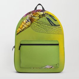 """Yellow dragonfly """"Sympetrum striolatum"""" Backpack"""