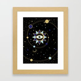 The Solar System Colored Version Framed Art Print