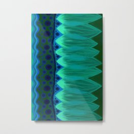 Blue Lotus Petals Metal Print