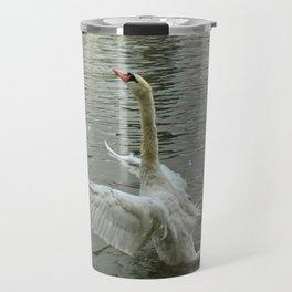 The swan dance on the Vltava river Travel Mug