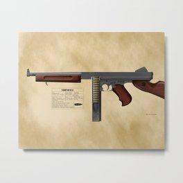 Thompson Submachine Gun - WWII Metal Print