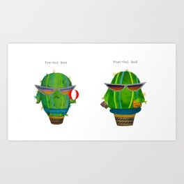 Pre and Post Holiday Art Print