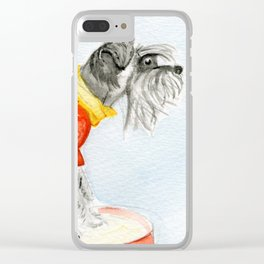 Starry Scruffy Schnauzer Clear iPhone Case
