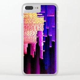 glitch Clear iPhone Case