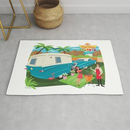 Relic 3 Vintage Travel Trailers, Caravans, Campers and Glamping Art Rug
