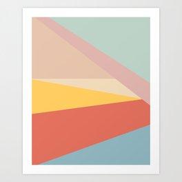 Retro Abstract Geometric Art Print